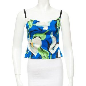 Dolce & Gabbana Floral Printed Boned Bodice Top L
